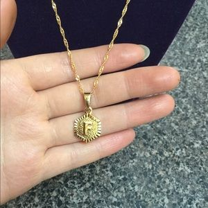 """Jewelry - New 18K gold """" F """" letter necklace"""